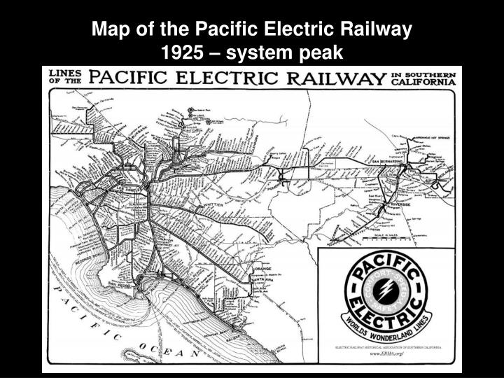 Map of the Pacific Electric Railway