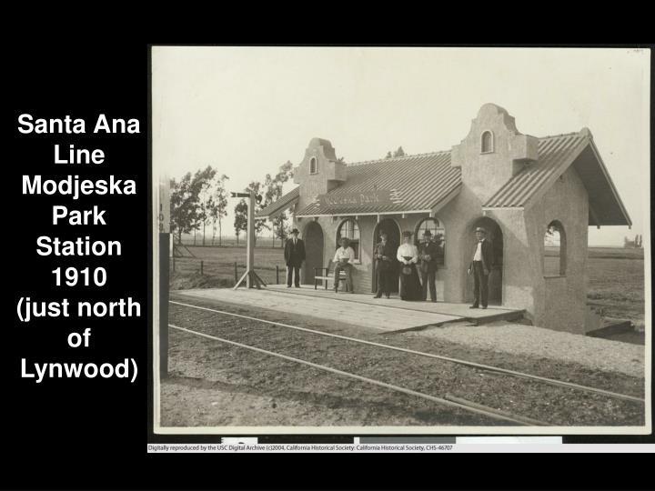 Santa Ana Line Modjeska Park Station 1910