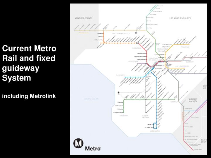 Current Metro Rail and fixed guideway System