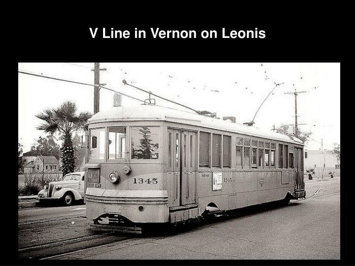V Line in Vernon on Leonis