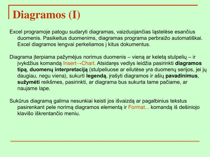 Diagramos (I)