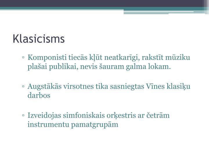 Klasicisms