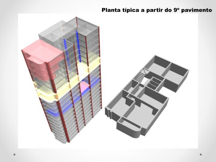 Planta tpica a partir do 9 pavimento