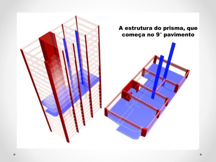 A estrutura do prisma, que comea no 9 pavimento