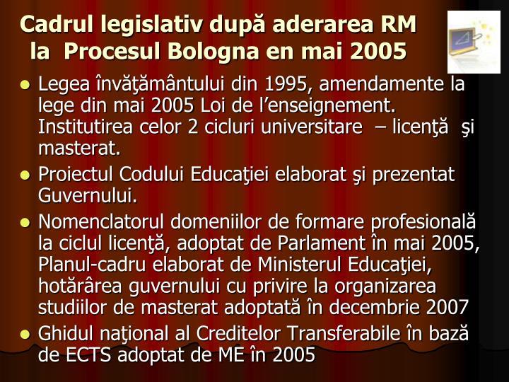 Cadrul legislativ dup