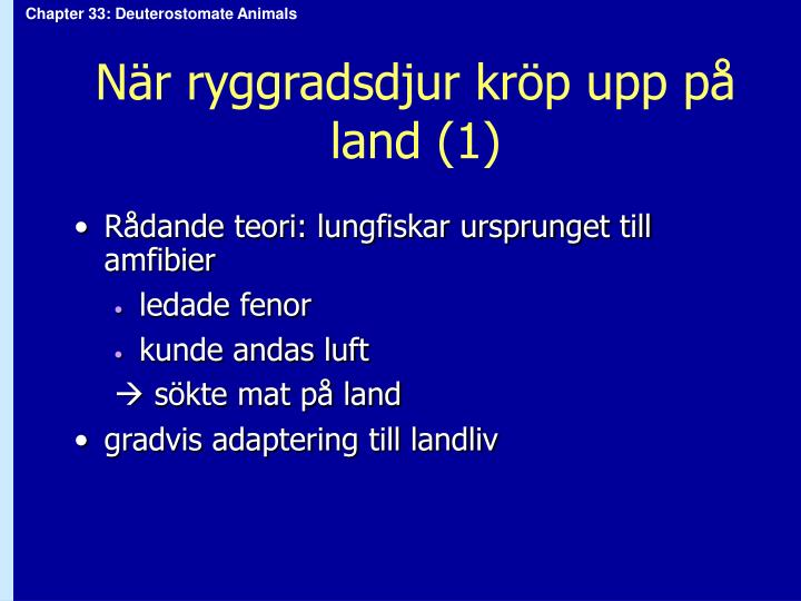 När ryggradsdjur kröp upp på land (1)
