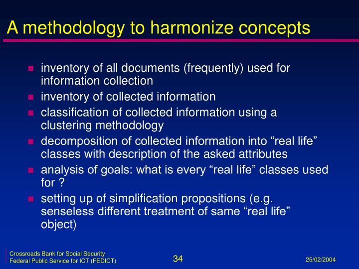 A methodology to harmonize concepts