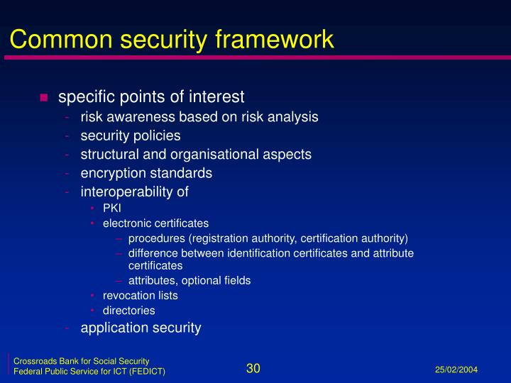 Common security framework
