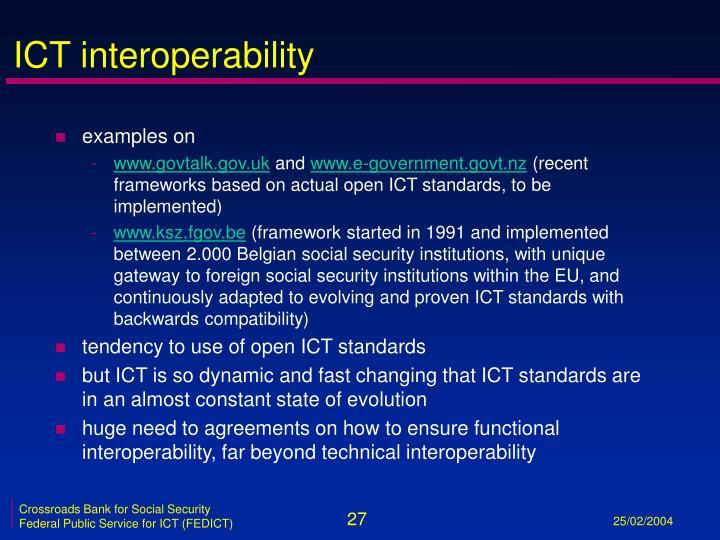 ICT interoperability