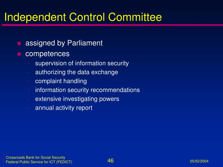 Independent Control Committee