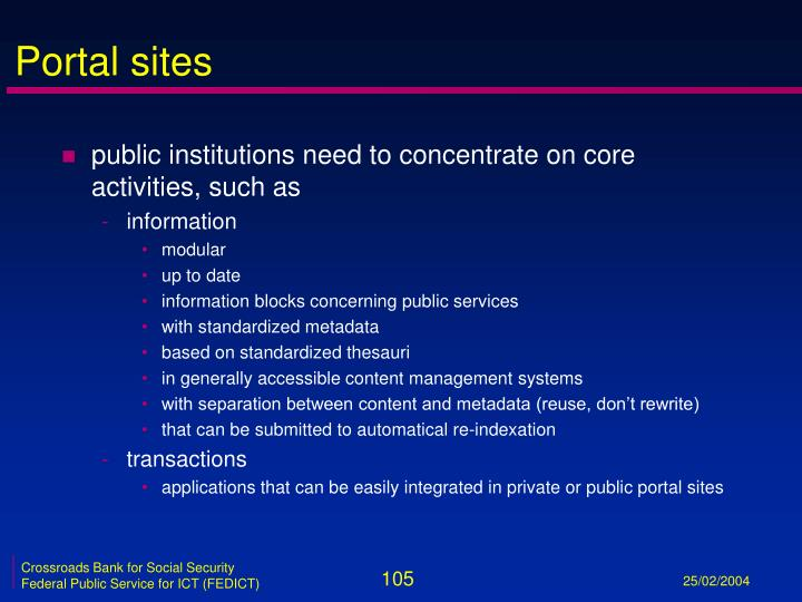 Portal sites