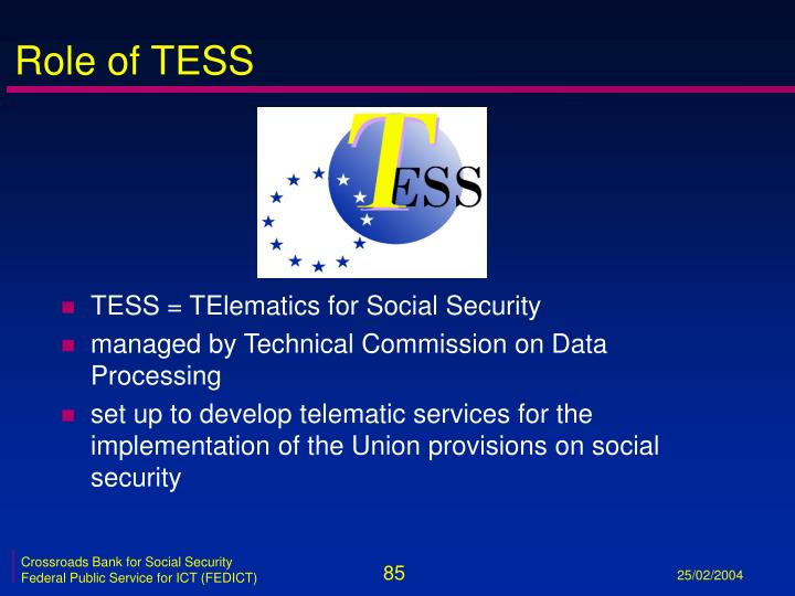 Role of TESS