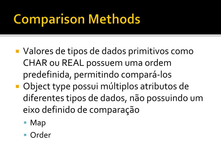 Comparison Methods
