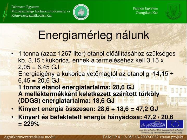 Energiamérleg nálunk