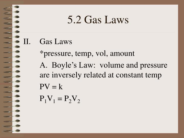 5 2 gas laws