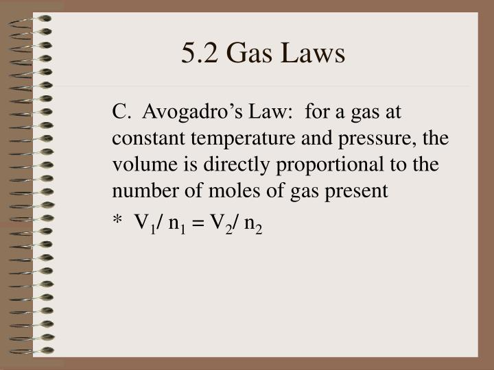 5.2 Gas Laws