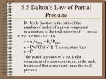 5 5 dalton s law of partial pressure1