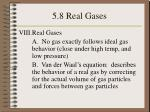 5 8 real gases