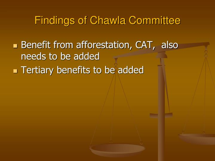 Findings of Chawla Committee