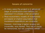 issues of concerns