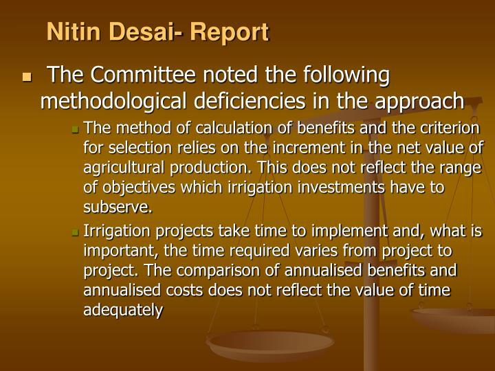 Nitin Desai- Report