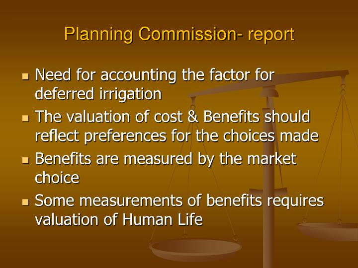 Planning Commission- report