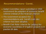 recommendations contd