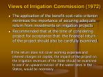 views of irrigation commission 19721