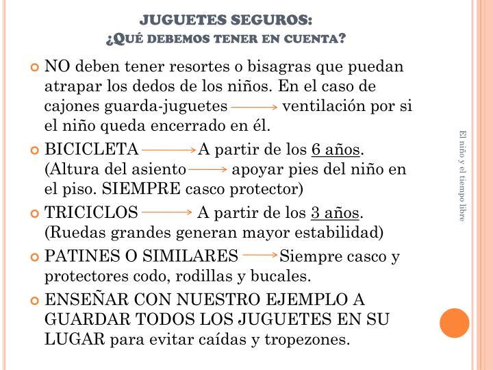 JUGUETES SEGUROS: