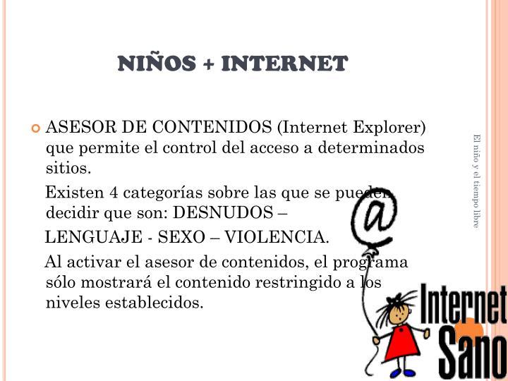 NIÑOS + INTERNET