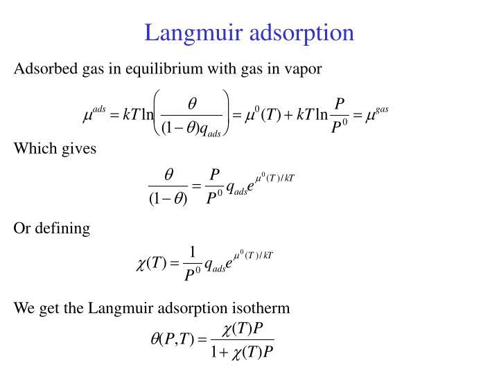 Langmuir adsorption