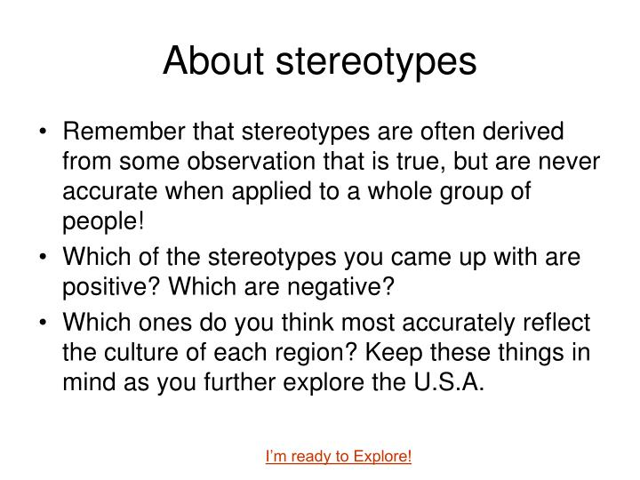 About stereotypes