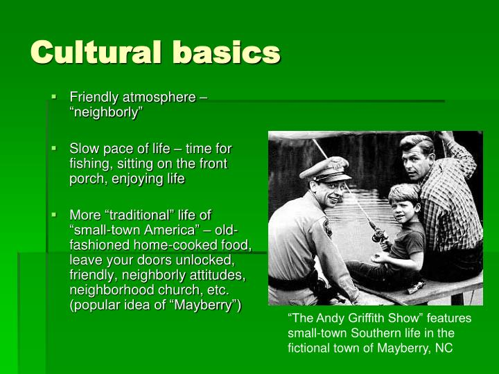 Cultural basics