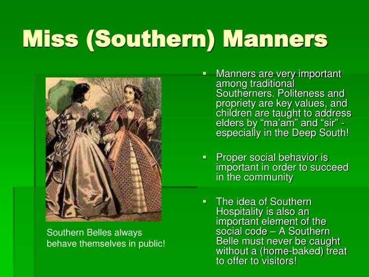 Miss (Southern) Manners