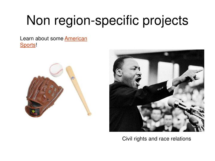Non region-specific projects
