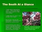 the south at a glance