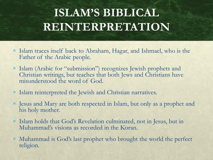 ISLAM'S BIBLICAL REINTERPRETATION