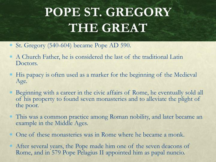 POPE ST. GREGORY