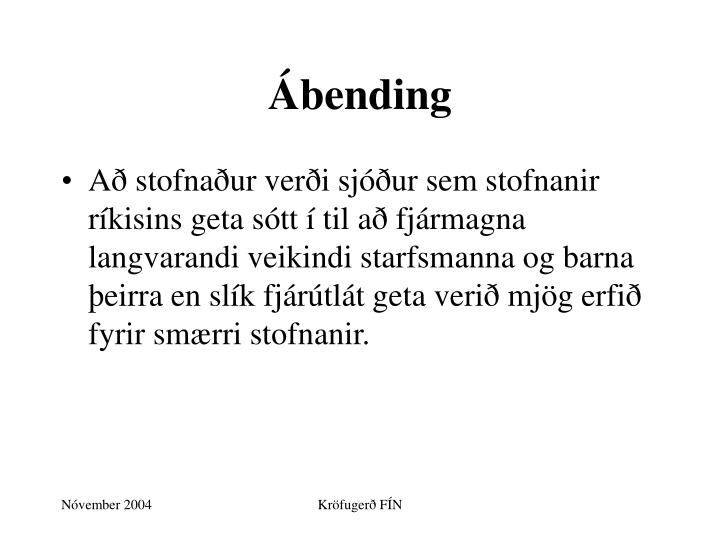 Ábending
