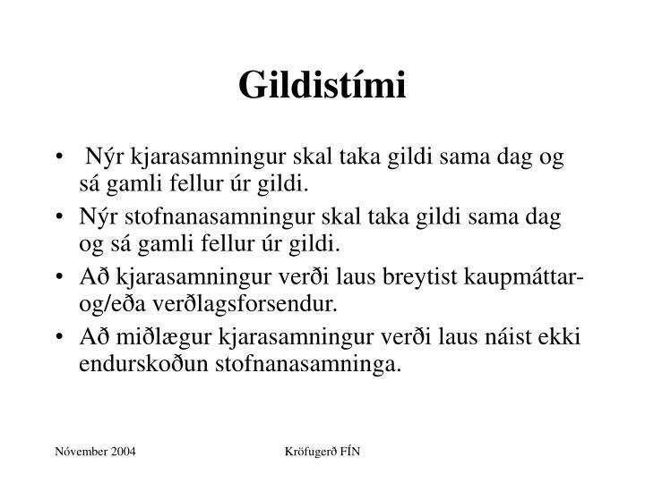 Gildistími