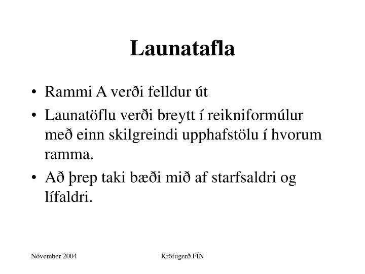Launatafla