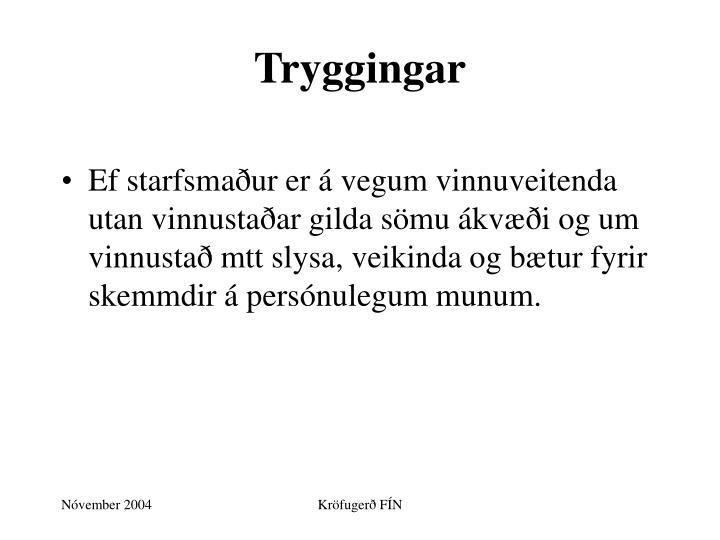 Tryggingar