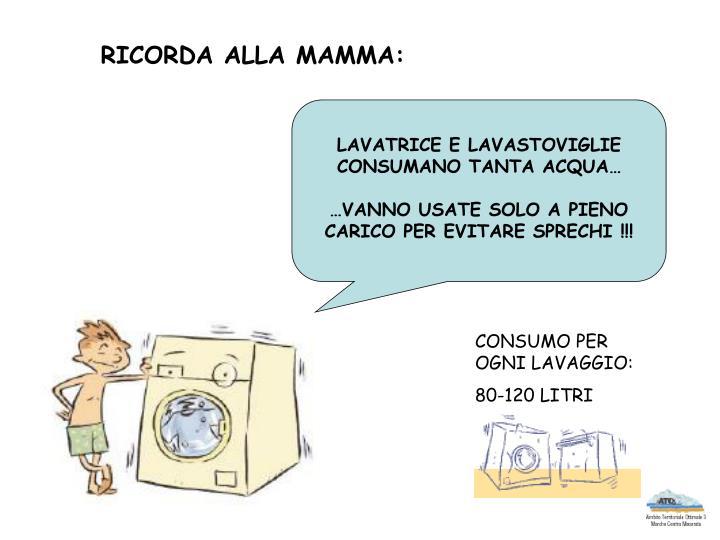 RICORDA ALLA MAMMA:
