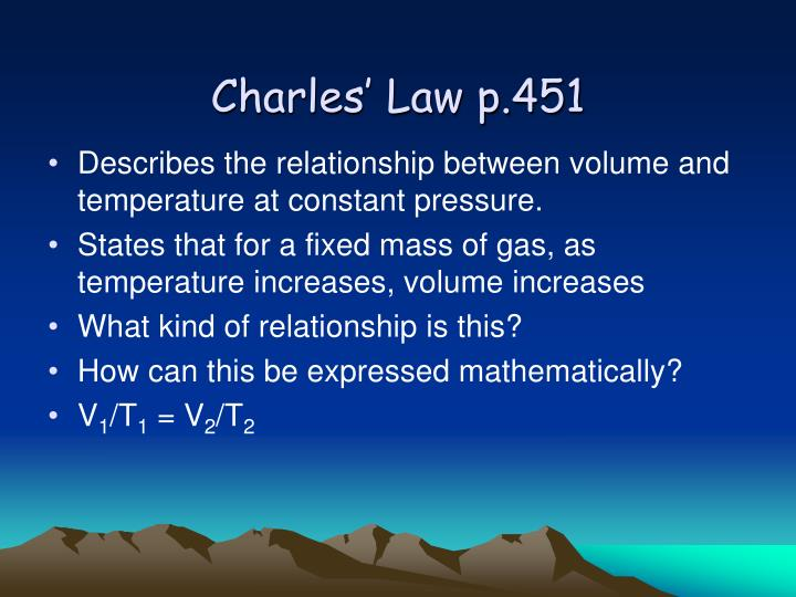 Charles' Law p.451