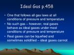 ideal gas p 458