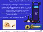 cryogenic electrical substitution radiometry