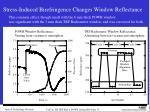 stress induced birefringence changes window reflectance