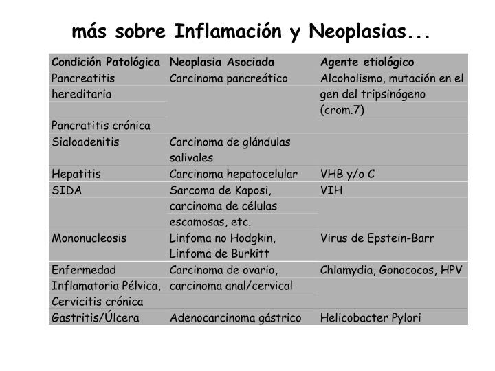 más sobre Inflamación y Neoplasias...