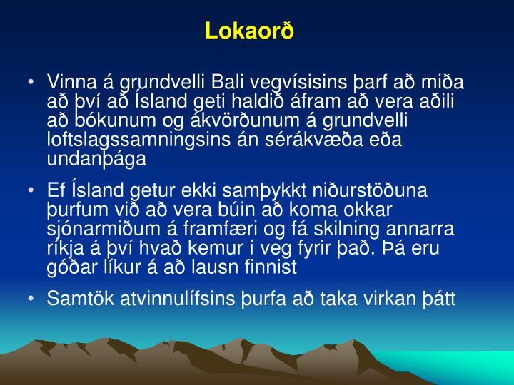 Lokaorð
