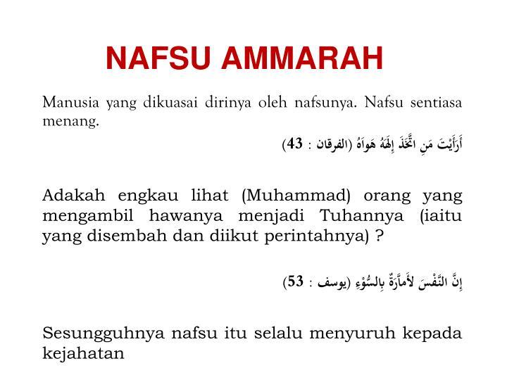 NAFSU AMMARAH